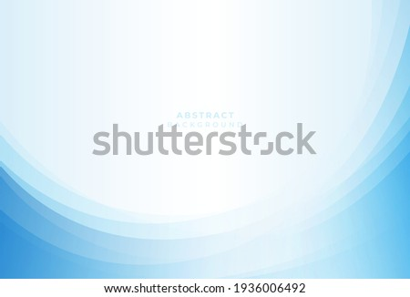 Abstract light blue and white wave  background. Simple vector graphic  pattern, modern