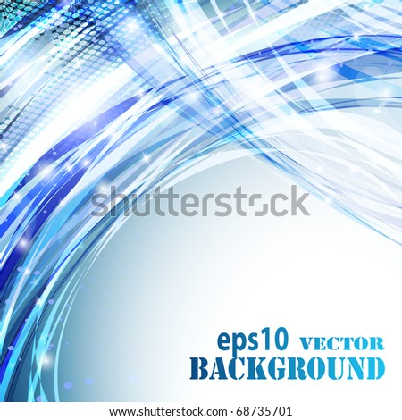 Abstract light blue background. Vector eps10 illustration