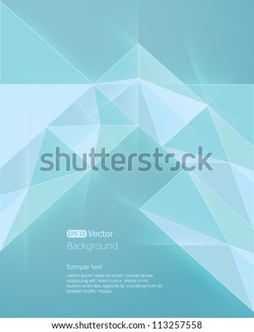 Abstract light blue background. Vector illustration - stock vector