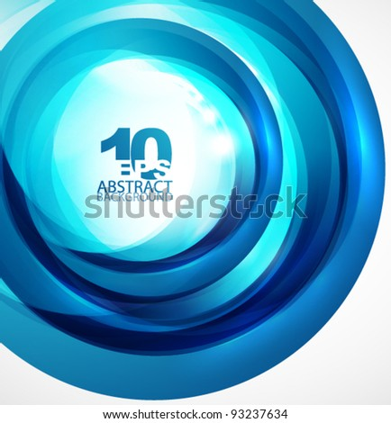 Abstract light blue circle wave