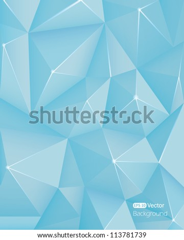 Abstract light blue crystal background