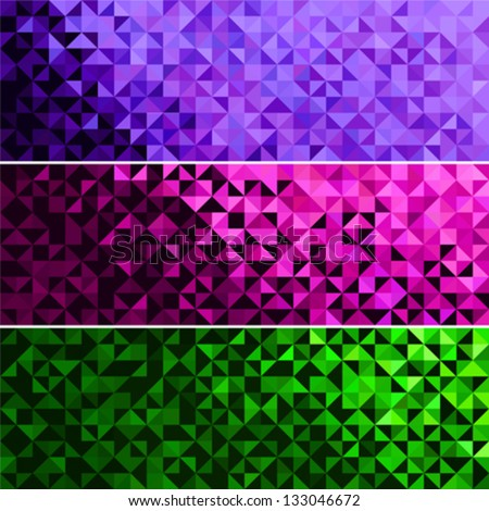 Abstract Light Brilliant Fun Holiday Banner Pattern. Bright Sparkle Green Pink Violet Vector Background