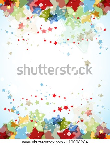abstract light color stars vector background