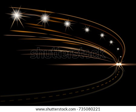 abstract light effects car