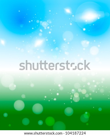 Abstract light green-blue background. 10 eps