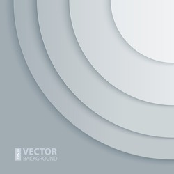 Abstract light grey round shapes background. RGB EPS 10 vector illustration