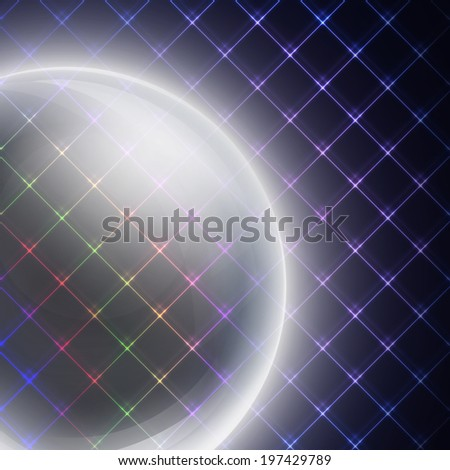 abstract light sphere on black