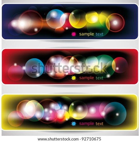 abstract  lights banners