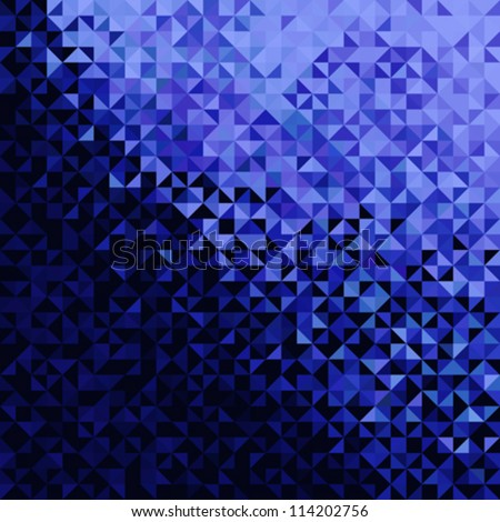 Abstract Lights Blue Black Disco Background. Pixel mosaic vector