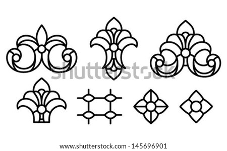 abstract lily shape and
