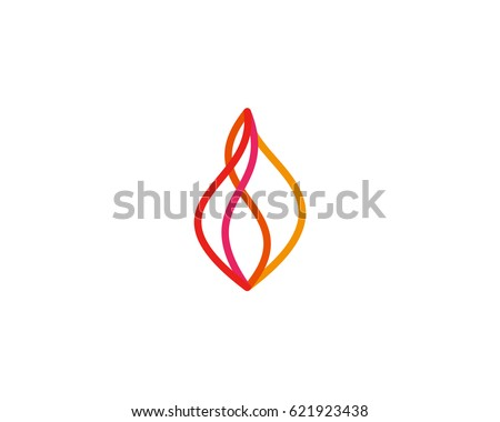 abstract line fire logo symbol