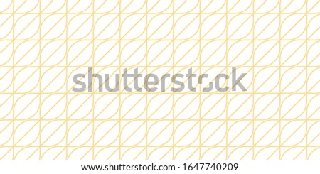 Abstract, linear geometric texture, white background with gold outlines, seamless pattern, print trend 2020
