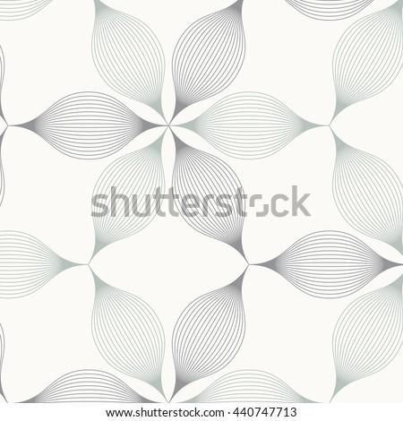 abstract linear petal flower
