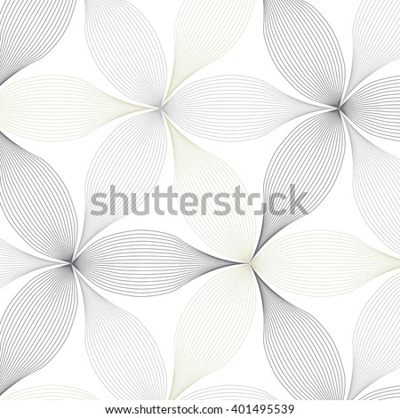 abstract linear petal flower