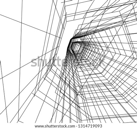 abstract lines, architecture background #1314719093