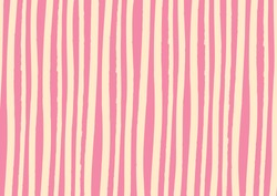 Abstract lines background in pink vanilla color. Vector watercolor imitation. Minimalistic design style. Backdrop for print or web. Digital dry brush strokes. Bright colorful retro wallpaper.