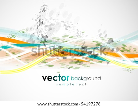 Abstract lines on blue. Vector background