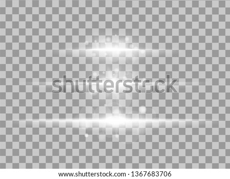 Abstract lines with glow light effect on transparent background. Special lens flash light effect. Color forces lights vector illustration.
