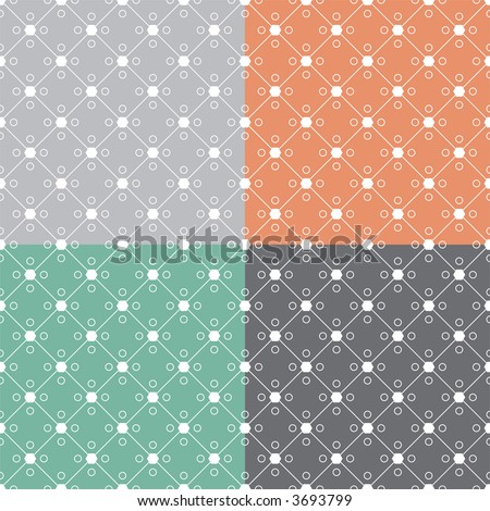 Abstract linked design that is ideal as a background or seamless desktop with four color variations