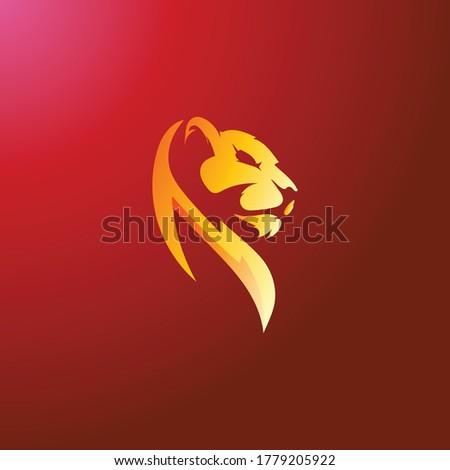 abstract lion face vector logo
