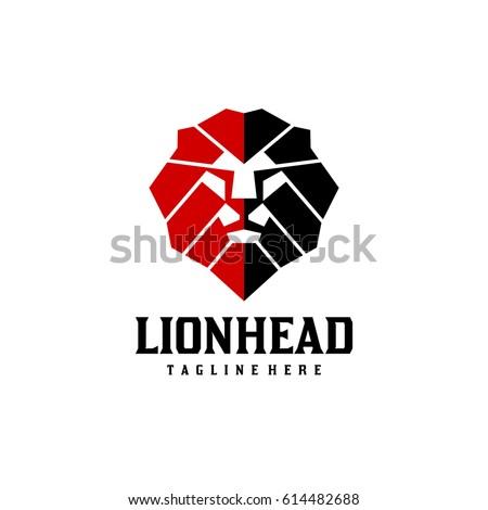abstract lion head logo
