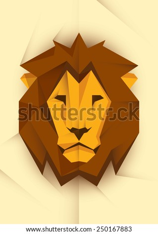 abstract lion's head vector