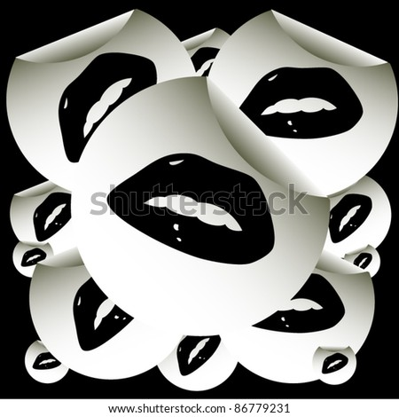 abstract lips background design