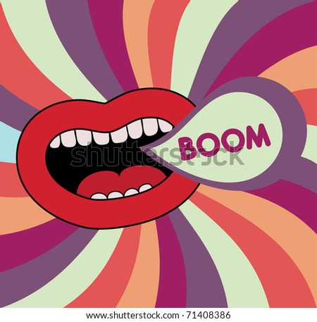 abstract lips. vector background