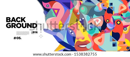Abstract liquid and triangle shape. Fluid geometric design. Isolated gradient waves with geometric lines, dots, batik Indonesia pattern. Vector illustration. stock photo