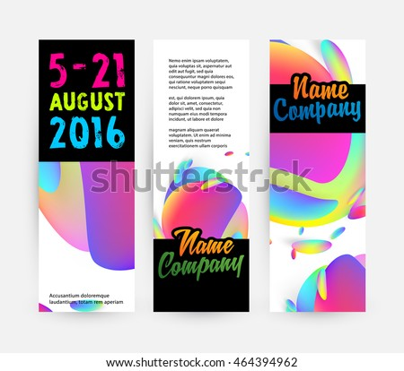 Abstract Liquid Bubbles Shapes for Background. Vector Illustration. Circles Pattern for Business Presentations, Application Cover or Web Site Design. #464394962