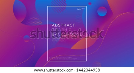 Abstract liquid fluid flow shapes. Dynamic composition with trendy flat geometric elements. Gradient banner template for modern covers and presentations. Eps10 vector illustration