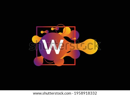 Abstract liquid shape Letter W Logo design vector template. Zdjęcia stock ©
