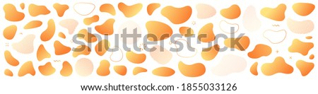 Abstract liquid shape. Set of modern graphic elements. Fluid dynamical colored forms banner. Gradient abstract liquid shapes. Vector illustration. Photo stock ©