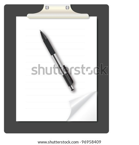 abstract list blanc with pen vector illustration
