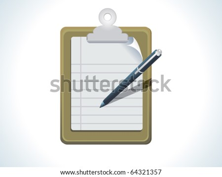 abstract list icon with pen vector illustration