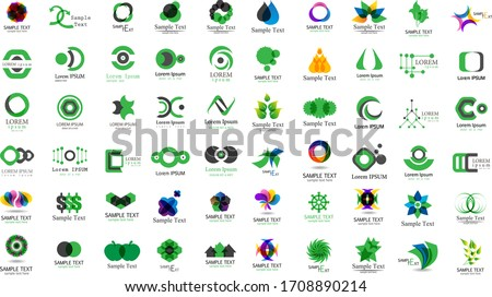 abstract logo and icon set