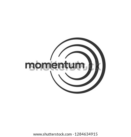 Abstract Logo Business Consulting Momentum, Impulse and Sound Wave Company Сток-фото ©