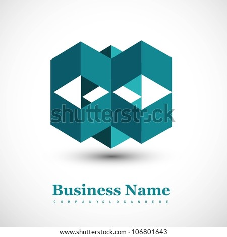 abstract Logo business success architecture icon Vector design