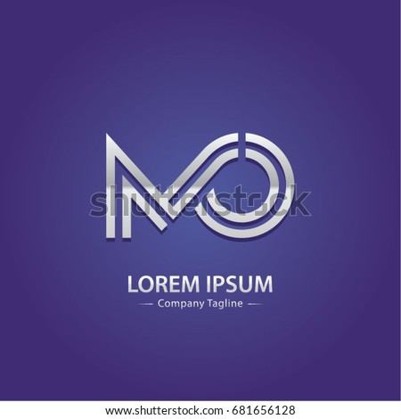 Abstract Logo Design Combinations Initial Letter of M and O Foto stock ©