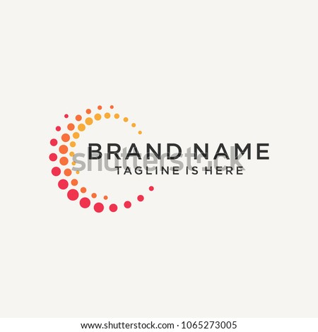 Abstract logo design.Vector logo template stock photo