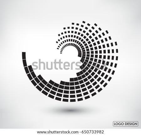Abstract logo design.Vector logo template.