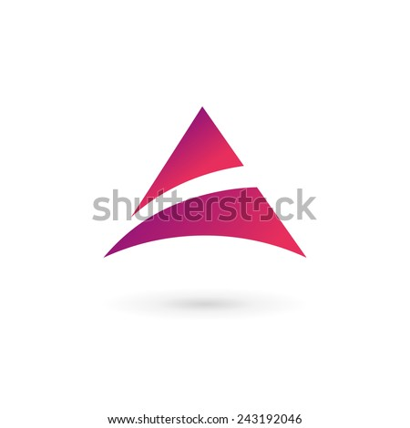 Abstract logo icon design template elements with letter A