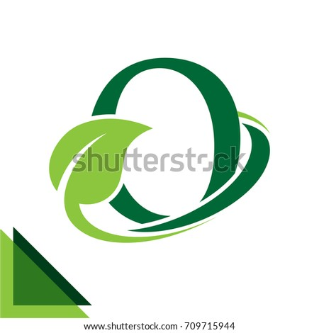 abstract logo icon leaf concept, environment, healthy, green technology with combination of letter O