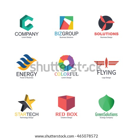 abstract logo icons design