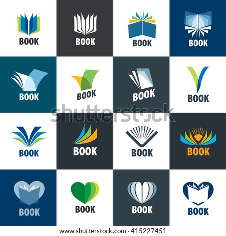 abstract logo of books and