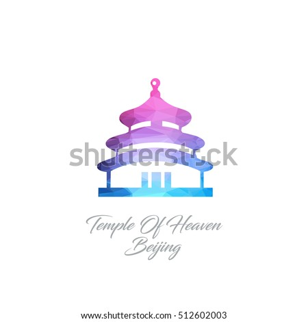 abstract logo of the temple of