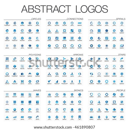 abstract logo set for business