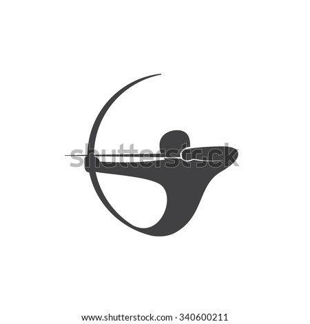 abstract logo template archer
