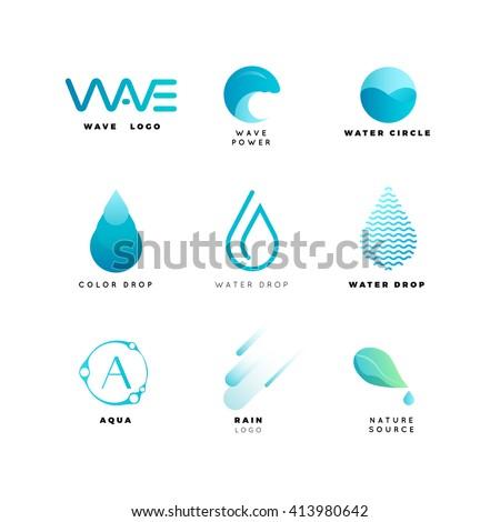 Abstract logo. Water logo. Wave logo. Geometric logo. Water line logo. Nature logo. Nature elements logo. Water vector logo. Water energy logo. Water logo. Water energy logo. Nature energy logo. Aqua