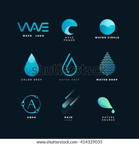 abstract logo water logo wave